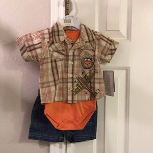 NWT boys 3/6 M Airplane/pilot outfit